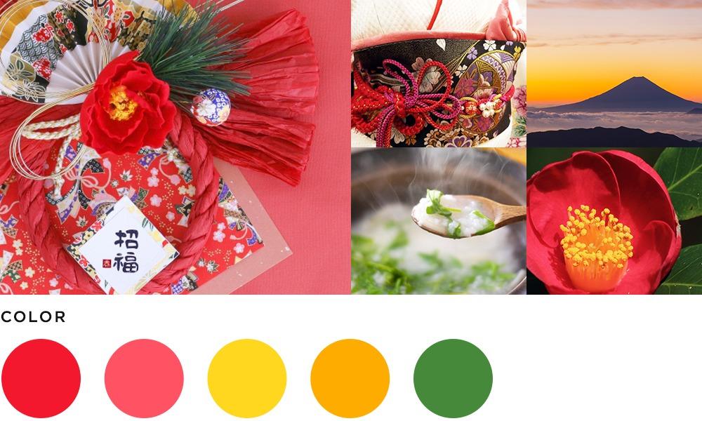 1月のイメージとカラーの画像