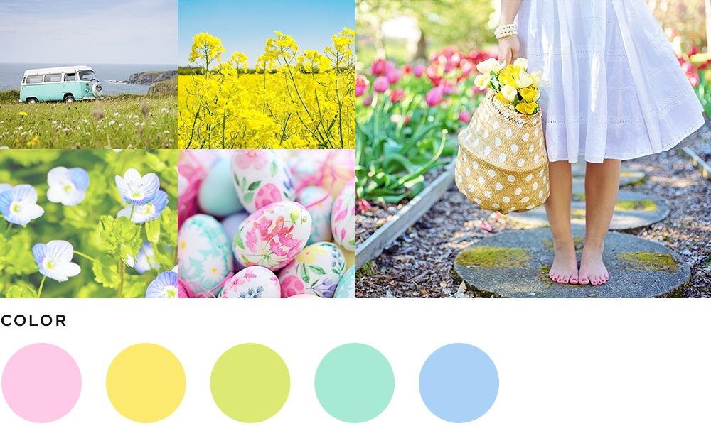4月のイメージとカラーの画像