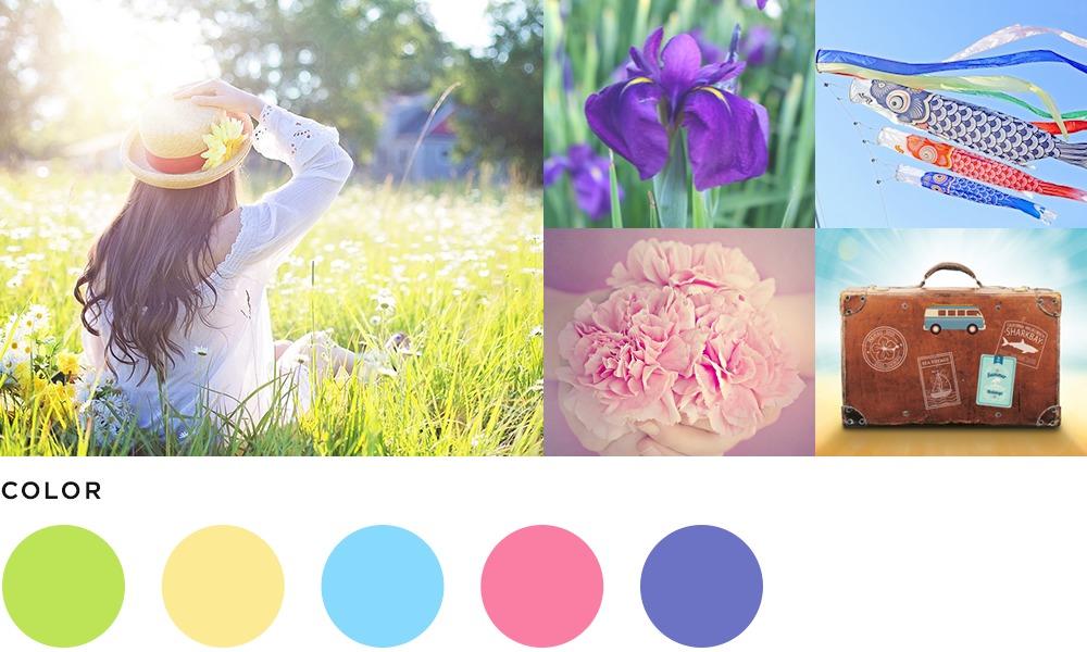 5月のイメージとカラーの画像