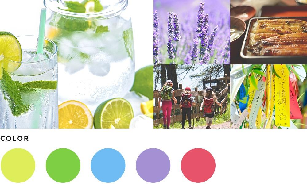 7月のイメージとカラーの画像