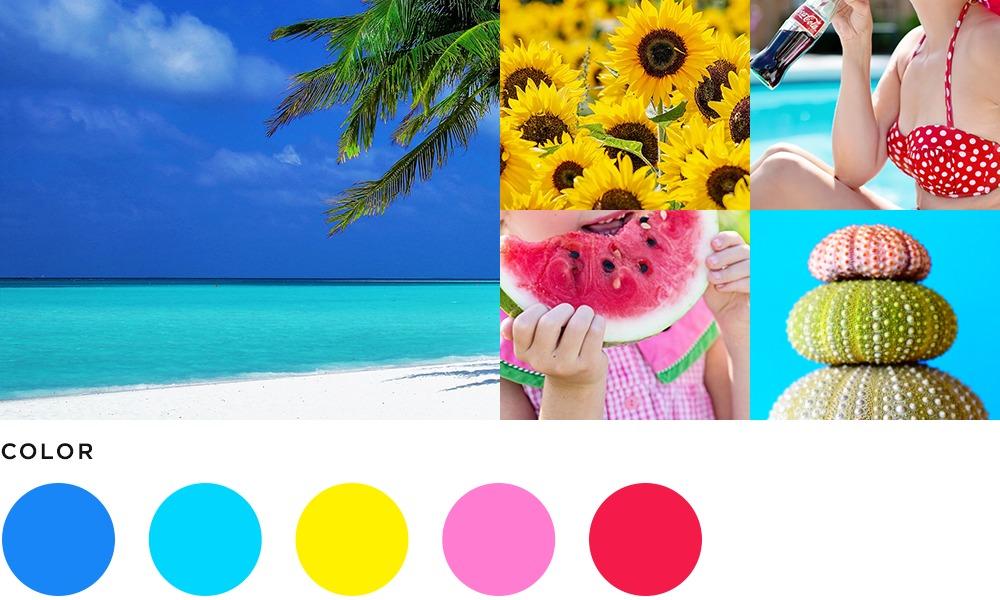8月のイメージとカラーの画像