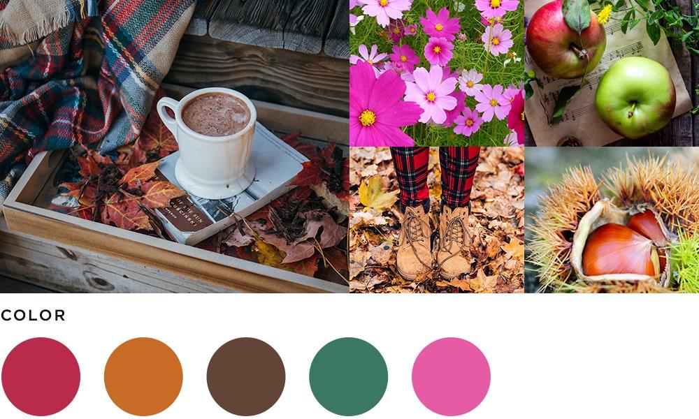10月のイメージとカラーの画像