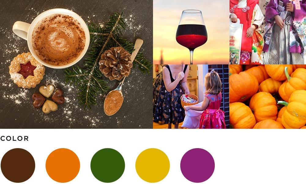 11月のイメージとカラーの画像